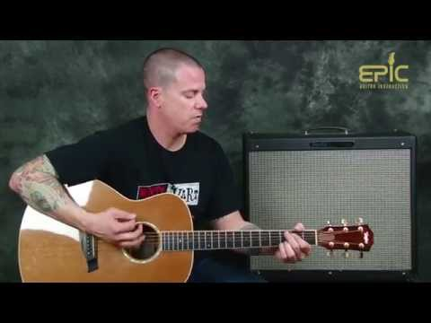 Learn acoustic country guitar Brantley Gilbert Bottoms Up song lesson with chords strum patterns