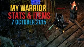 Drakensang Online - My Warrior Stats & Items [7.10.2015]