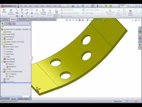 Full Download Solidworks Holes On A Curved Surface