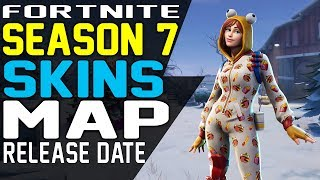 FORTNITE SEASON 7 BATTLE PASS SKINS, RELEASE DATE, MAP UPDATES And CHANGES