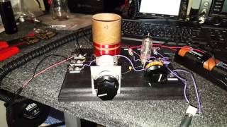 Armstrong single tube regenerative radio.