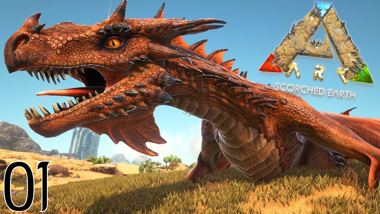 Download BIENVENUE CHEZ LES DRAGONS ET DINOSAURES ! | ARK: Scorched Earth ! #Ep1