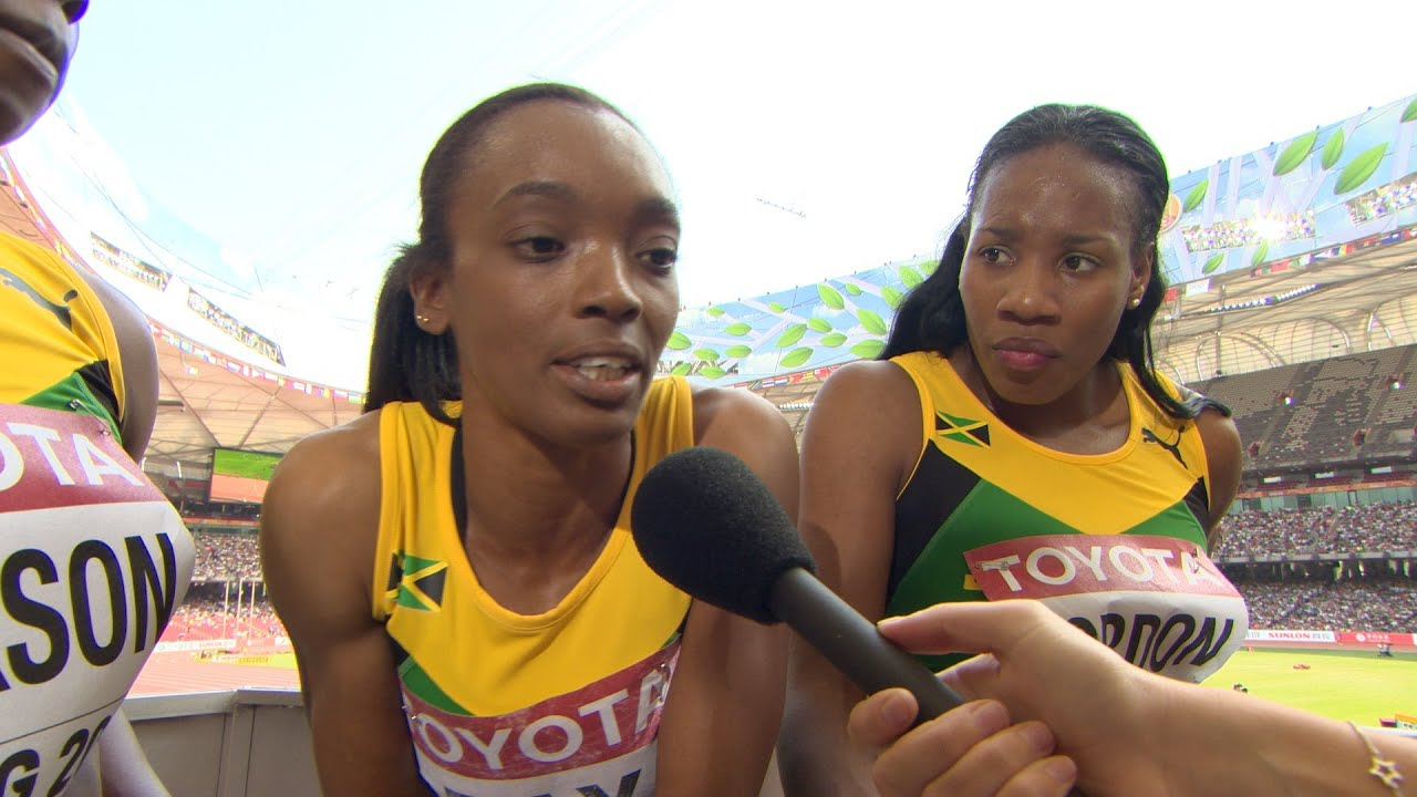 WCH 2015 Beijing - Team Jamaica 4x400m Relay Women Heat 1 ...