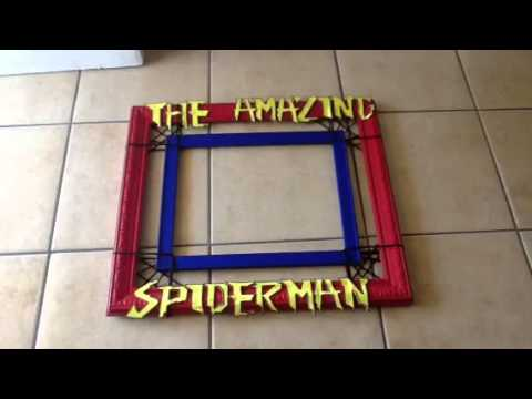 Spider-Man photo booth frame - YouTube