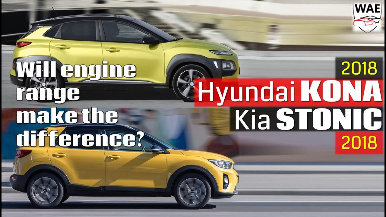 2018 Hyundai Kona Vs Kia Stonic Technical Comparison