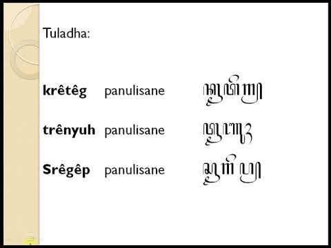 Rpp daring aksara jawa sandhangan mandaswara disukai diunduh dilihat. Aksara Jawa Sandhangan Mandaswara Youtube