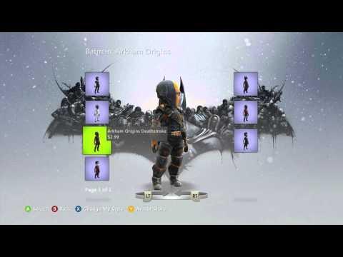 Batman: Arkham Origins Xbox Live Marketplace Avatar Items