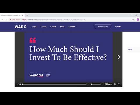 WARC for Advertisers - demo