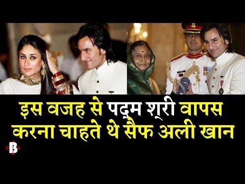 Why Saif Ali Khan Wants To Return His Padma ShrI Award ? Mp3