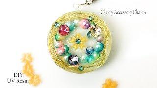 【UVレジン】桜の花びらをモチーフにしたアクセサリーチャームを100均モールドと材料で作ってみました!resin DIY thumbnail