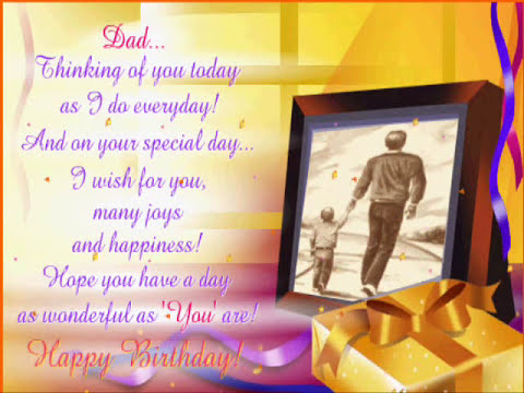 Happy Birthday Wishes Daddy ~ Happy birthday wishes for dad youtube
