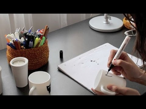 How to illustrate your own coffee cup video