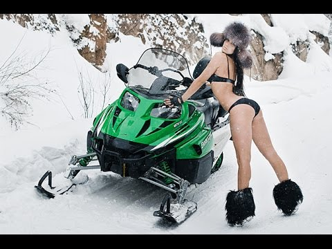 Развлечение на снегоходах