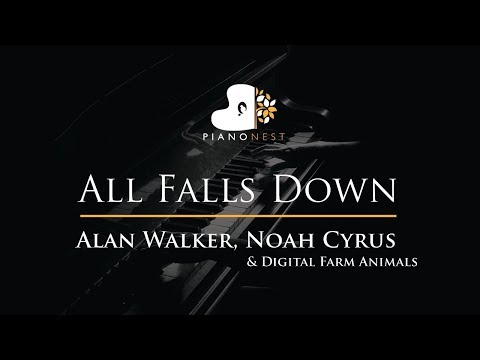Alan Walker, Noah Cyrus  All Falls Down  Piano Karaoke  Sing Along   with Lyrics