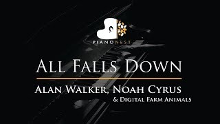 Alan Walker, Noah Cyrus - All Falls Down - Piano Karaoke / Sing Along / Cover with Lyrics