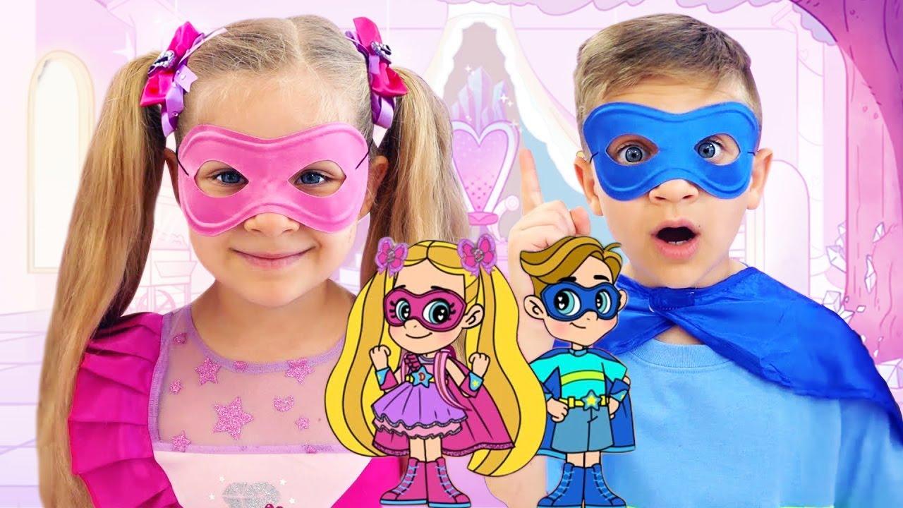 Download Diana e Roma em uma Aventura de Super-heróis / Desenhos animados para crianças