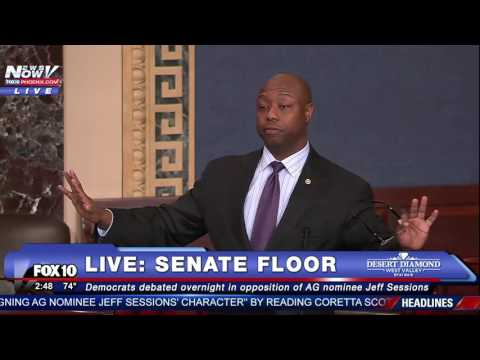 FNN: Sen. Tim Scott Explains His SUPPORT for Jeff Sessions as a Black Man, Reads RACIST Hate Tweets