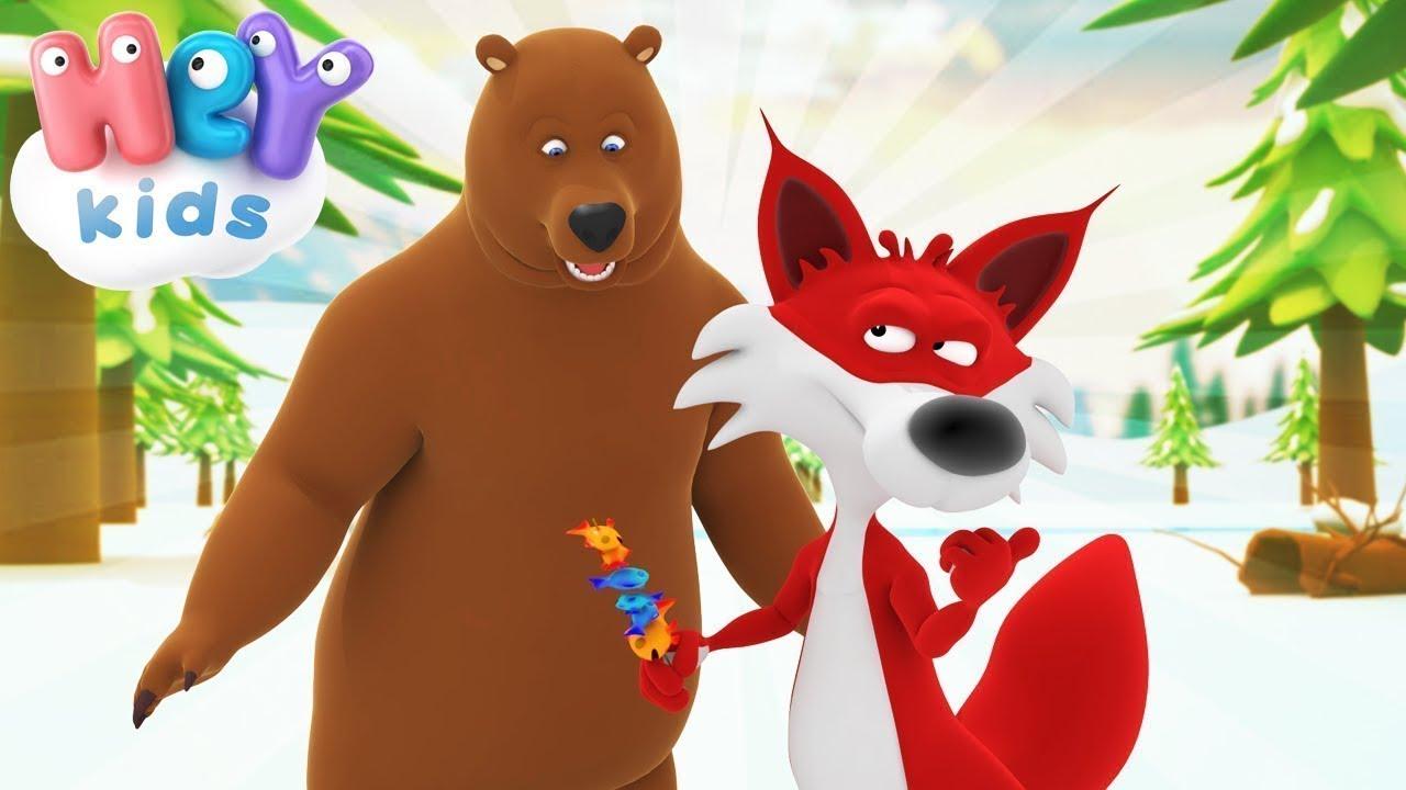 Ursul Pacalit De Vulpe - Poveste pentru copii   HeyKids - Desene animate