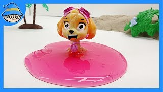 Paw Patrol Skye, inside the colored slime. Paw Patrol Rescue episodes.