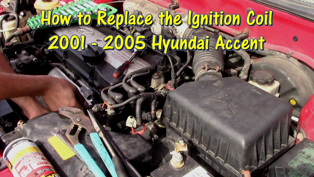 how to replace an ignition coil on a 01 05 hyundai accent by gettinjunkdone youtube. Black Bedroom Furniture Sets. Home Design Ideas