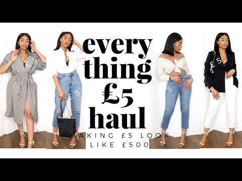 EVERYTHING £5 TRY ON HAUL | HOW TO MAKE £5 LOOK LIKE £500 | APRIL 2018 | SARAHJOHOLDER