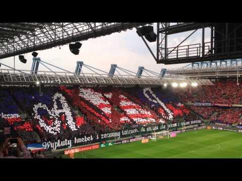 Wisła Kraków - Legia Warszawa. Oprawa kibiców Wisły