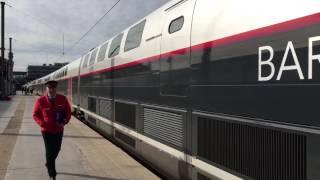 マルセイユ・サン・シャルル駅を出発するTGVのドア扱い