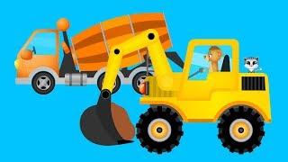 Bagger auf der Baustelle - Märchen für Kinder