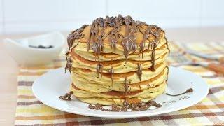 Tortitas Americanas Esponjosas Rellenas de Chocolate | Receta Fácil de Pancakes (Hot cakes)