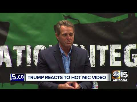 President Donald Trump responds to Sen. Flake's hot-mic diss