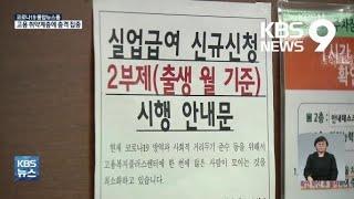 코로나19 '구직 한파' 언제 풀릴까?…일자리 회복도 K자 예상 / KBS 2021.02.10.
