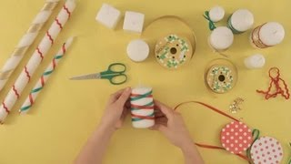 How to decorate Christmas candles : Christmas crafts for the whole family