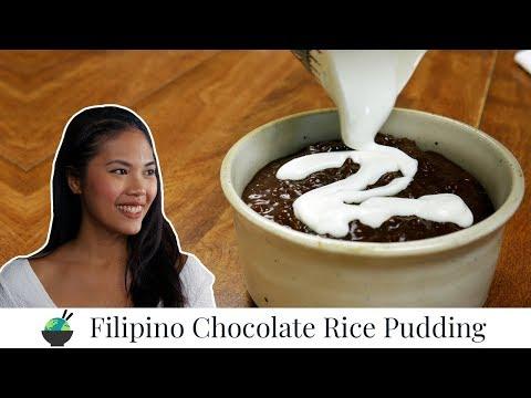Champorado Recipe | Filipino Chocolate Sticky Rice Porridge | Quick and Easy Filipino Recipe