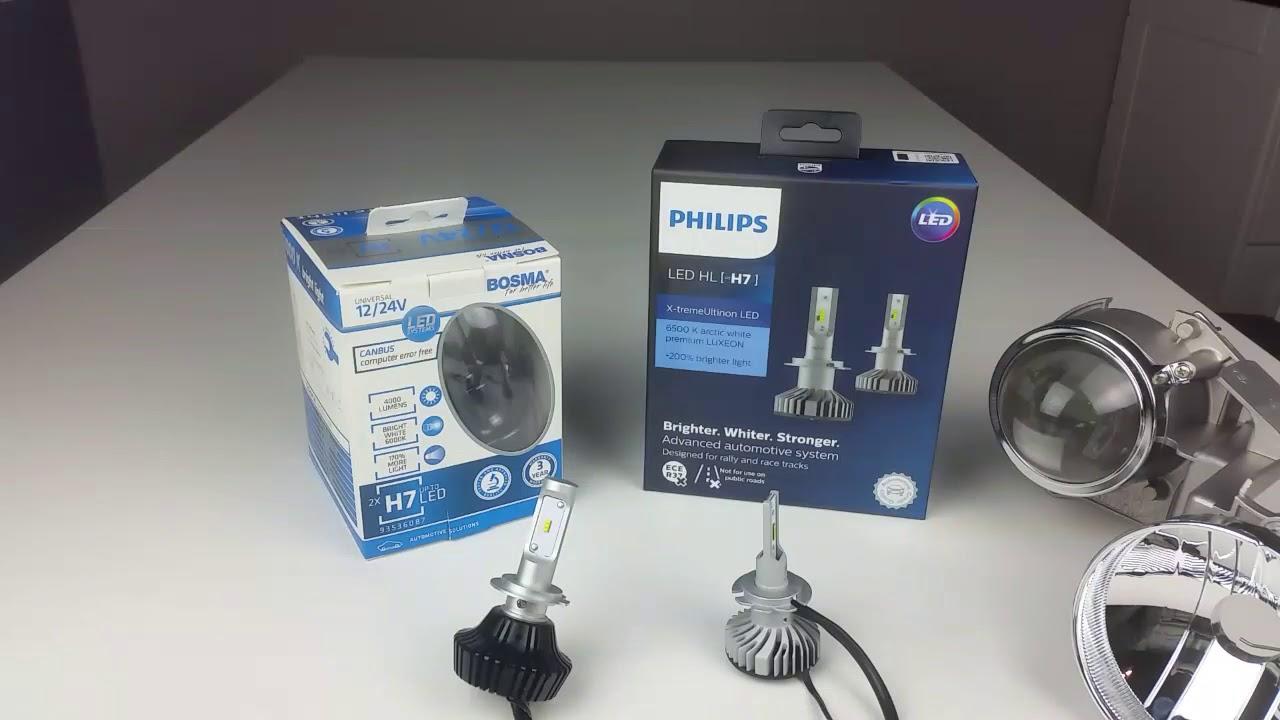 Lampadine H7 Led Philips.Philips H7 Led Vs Bosma H7 Led