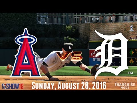 DEFENSIVE CLINIC! (Los Angeles Angels @ Detroit Tigers) MLB The Show 16 Franchise Mode