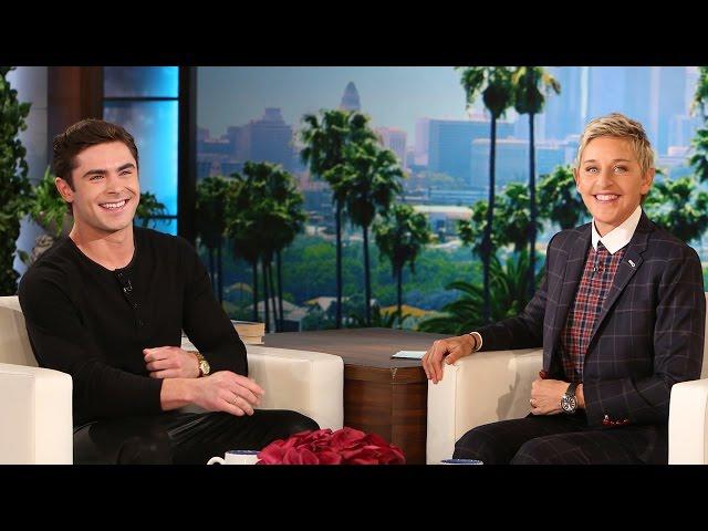 Zac Efron Twerks In Leather Pants & Gives Ellen a Lap Dance