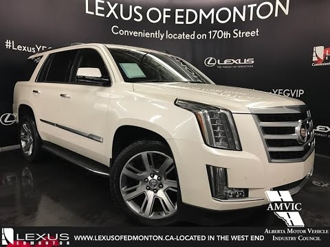 Used White Cadillac Escalade WD Luxury Walk Around Review - Edmonton cadillac