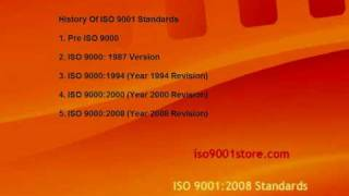 History Of ISO 9001 Standards