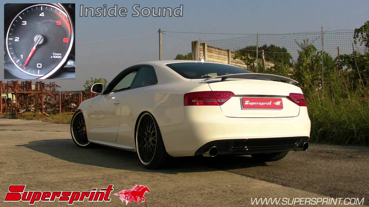 Audi A5 3 0 Tdi Full Supersprint Exhaust Youtube