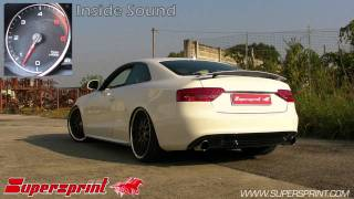 Audi A5 3 0 TDI full Supersprint exhaust
