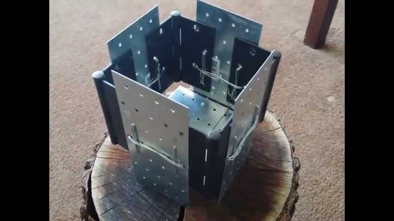 DIY Foldable wood stove  YouTube
