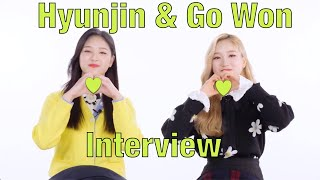 [ENG] ALLETS Interview with Hyunjin and Go Won (190322)