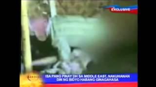 Filipina raped in Saudi,rapist recorded a vedio.
