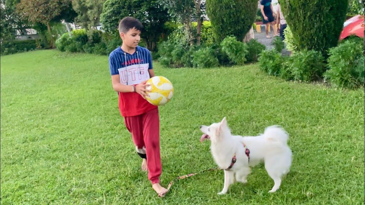 Download Piyush And Oreo playing football 😃