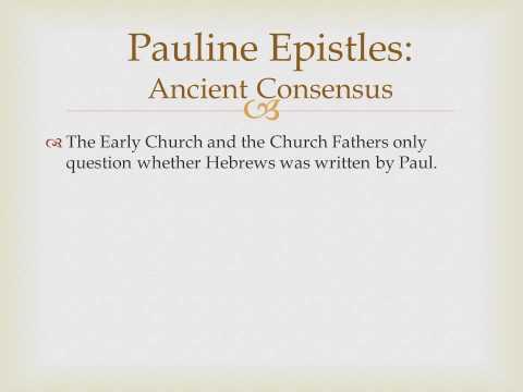 Biblical literature Lecture 10 Pauline Epistles Introduction