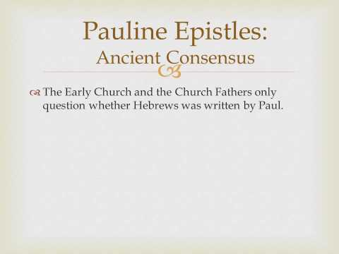 Biblical literature Lecture 10 Pauline Epistles Introduction