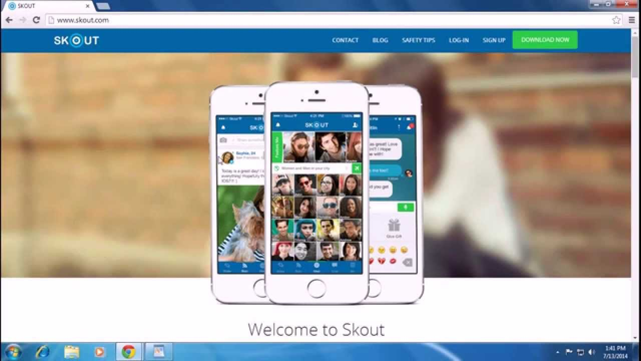 Skout login with facebook