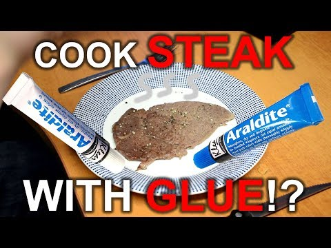 Can you cook a STEAK with GLUE?!