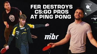 fer destroys CS:GO pros at ping pong