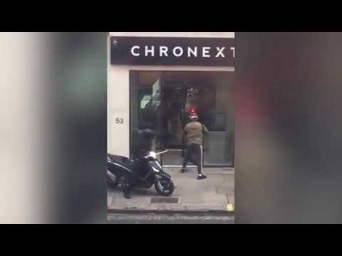 Knife wielding moped robbers raid building on fleet street